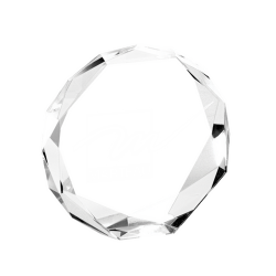 Crystal Octagon Award 13.5cm