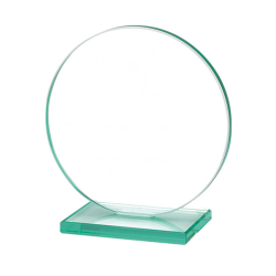 Jade Glass Circle Award Small