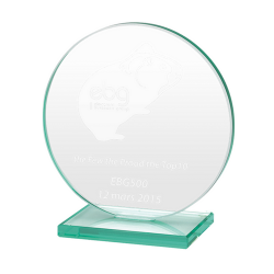 Jade Glass Circle Award Medium