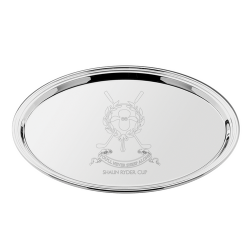 Oval Silver Plated Salver 45cm