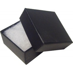 Black 40mm Covered Badge Box