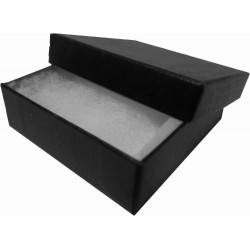 Black 60mm Covered Badge Box