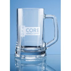 Glass Straight Line Tankard One Pint