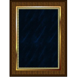 Marble Mist Coated Plaque Blue Medium