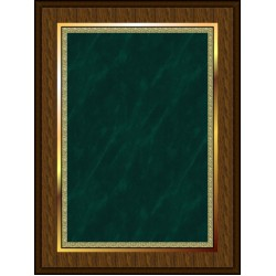 Marble Mist Coated Plaque Green Medium