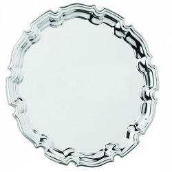 Nickel Plated Salver 25cm