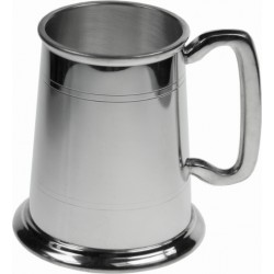 Straight Lined Pewter Tankard Half Pint